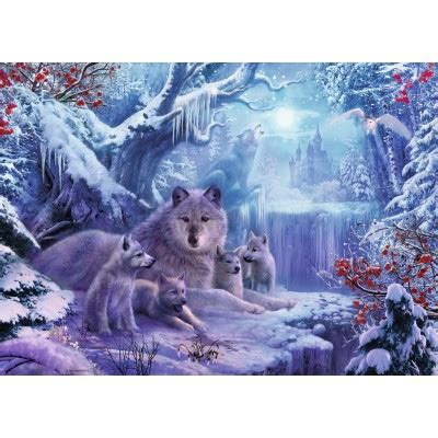 Puzzle Wnter Wolves Ravensburger-19704 1000 pieces Jigsaw