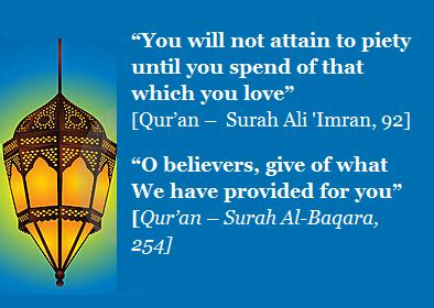 Quotes about Sadaqah - Quranic Verses and Hadith about