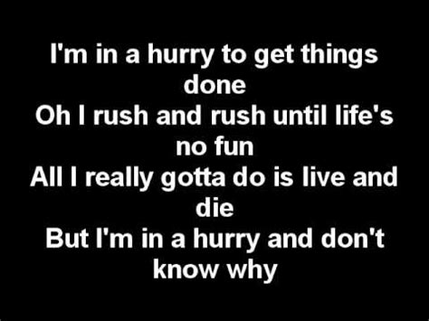 LYRICS-Alabama- I'm in a hurry (and don't know why) - YouTube
