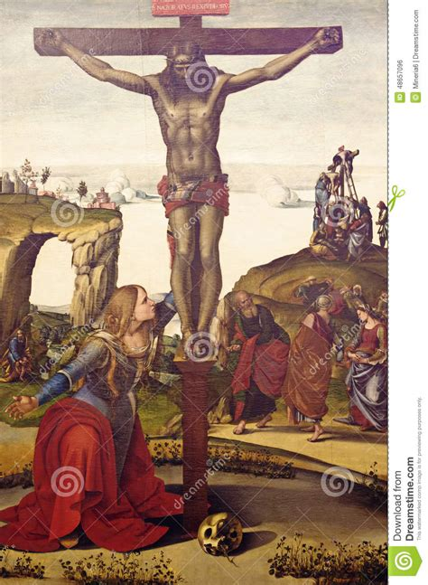The Crucifixion Of Jesus Christ Stock Photo - Image of