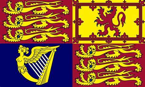 File:Royal Banner of Great Britain and Northern Ireland (A