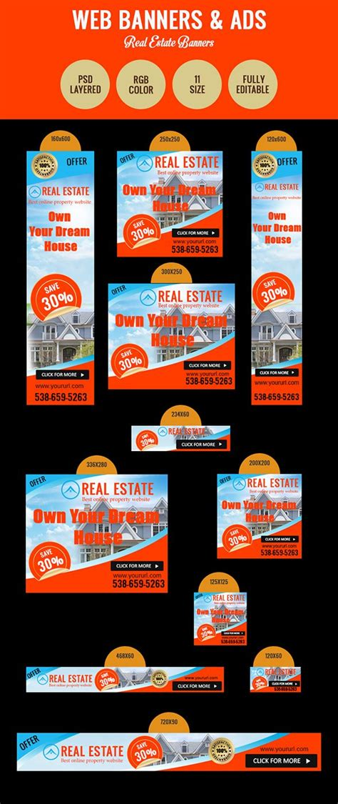 Real Estate Ad Banners ~ Web Elements ~ Creative Market