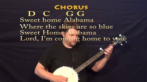 Sweet Home Alabama - Banjo Cover Lesson with Lyrics and