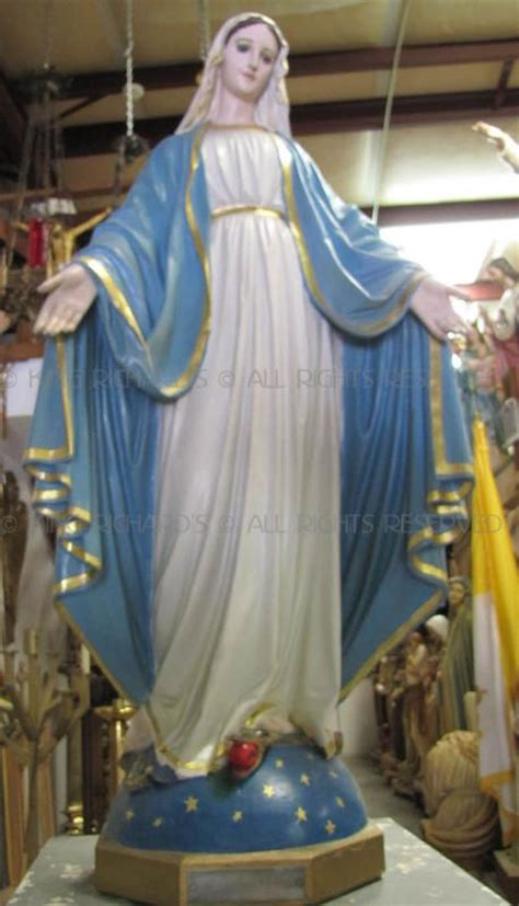 Mary---Our-Lady-of-Grace - Vintage Plaster Statue Of Our