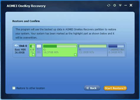 Acer Completely Restore Operating System to Factory