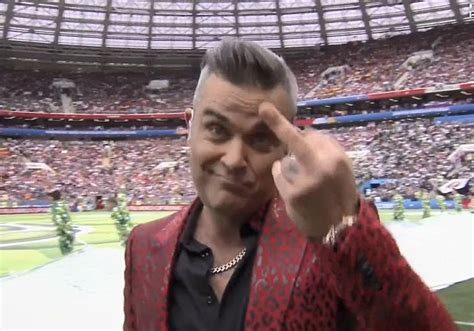 Robbie Williams In Strife After Flipping The Bird During