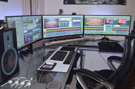 office desk large enough for 3 monitors - Google Search