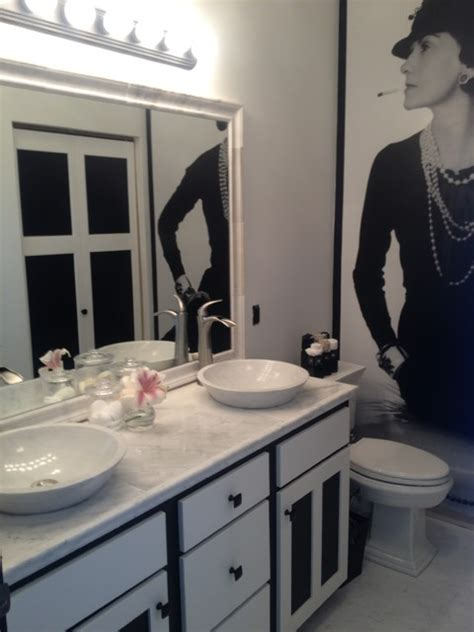 Coco Chanel Inspired Bathroom by Sarah F