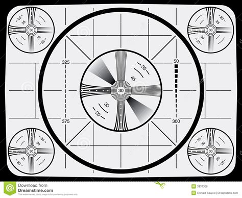 Television Test Pattern Royalty Free Stock Image - Image