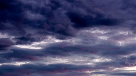Dark Clouds Moving Storm Sky Stock Footage Video (100%