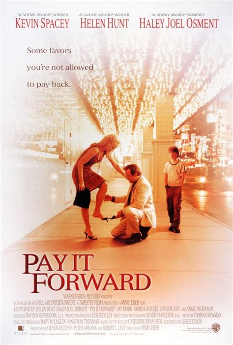 Pay it Forward Movie Poster (#4 of 4) - IMP Awards