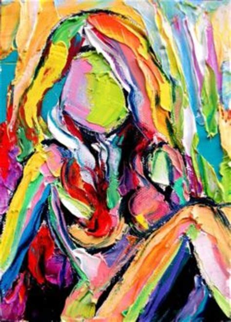 abstract woman face oil painting   http://lomets